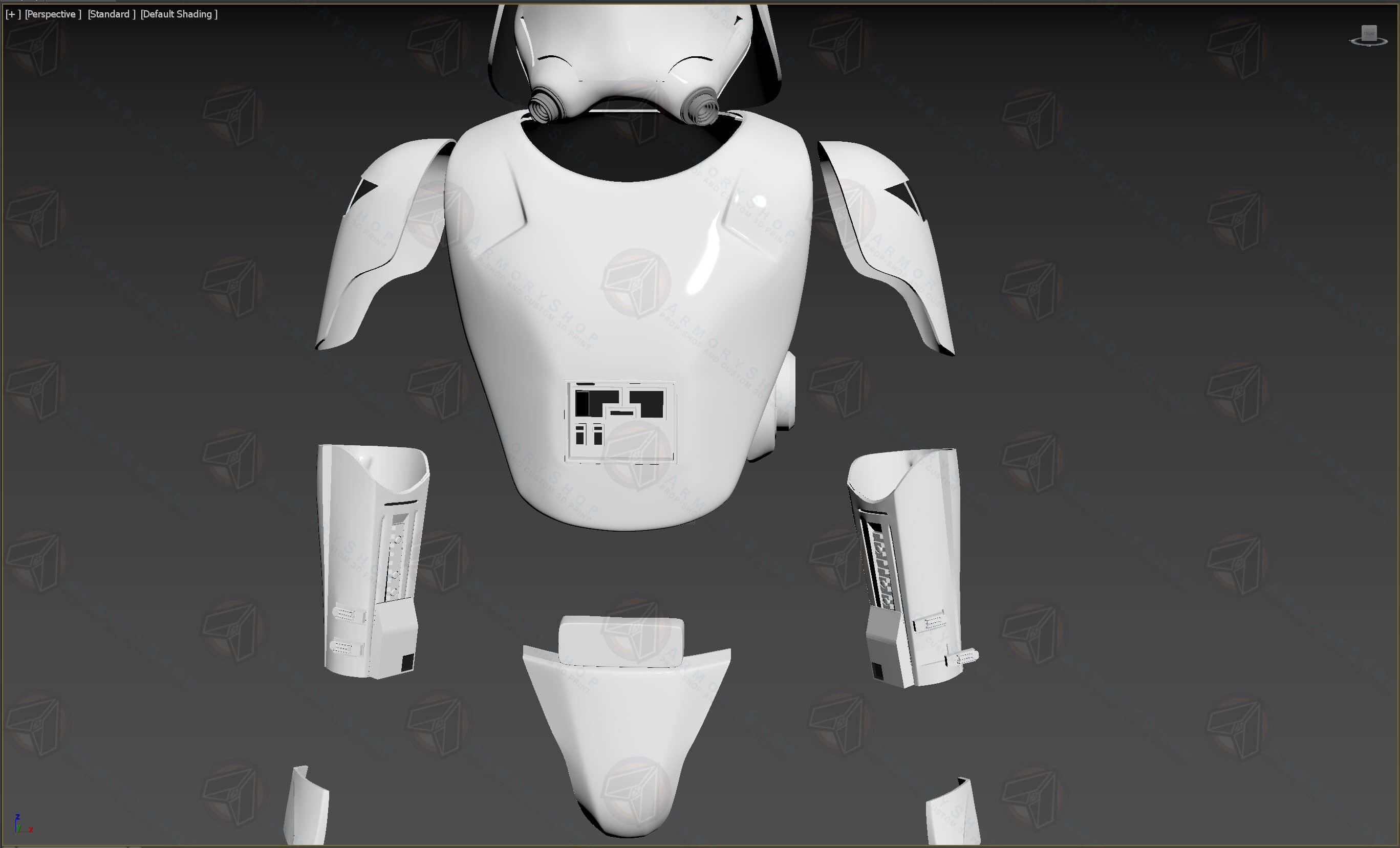 First Order SnowTrooper Assault Armor (TFA / TLJ, Raw)