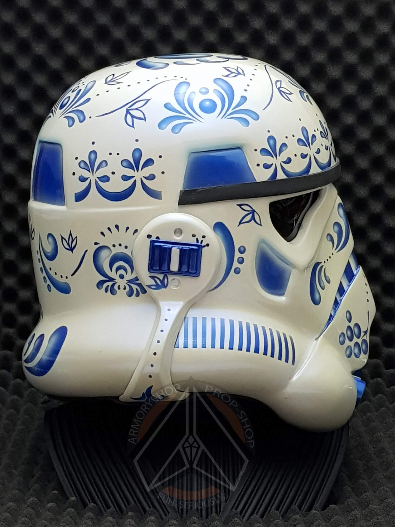 """GZHEL [Гжель]"" - Stormtrooper Helmet (Art Project)"