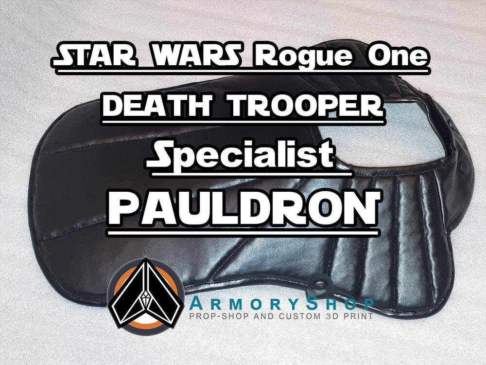 Death Trooper soft parts: pauldrons
